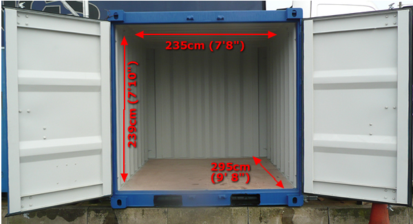 10 foot storage container measurements
