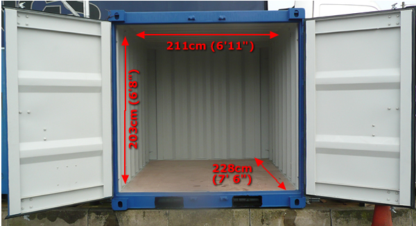 8 foot storage container measurements